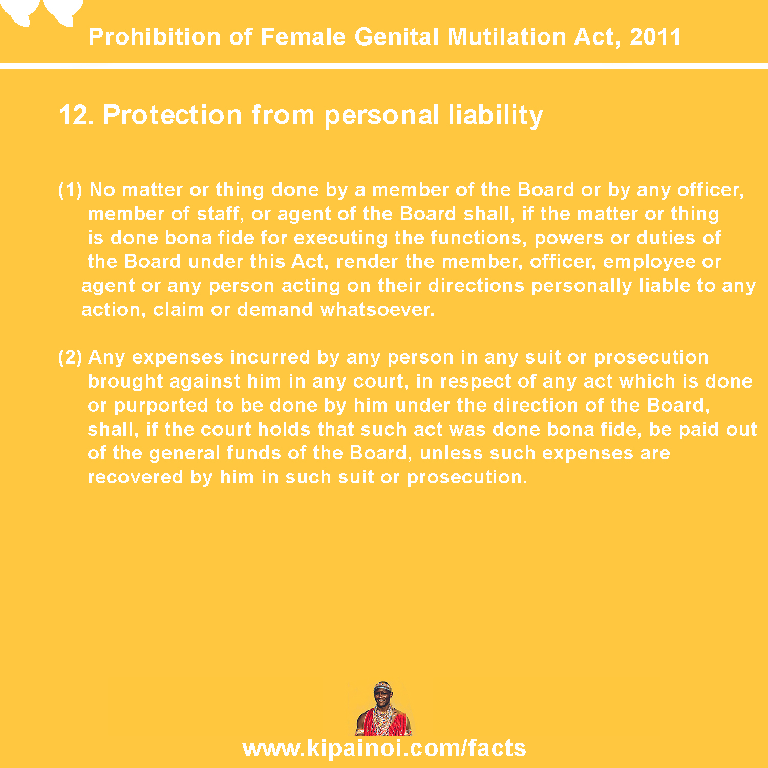 12. Protection from personal liability