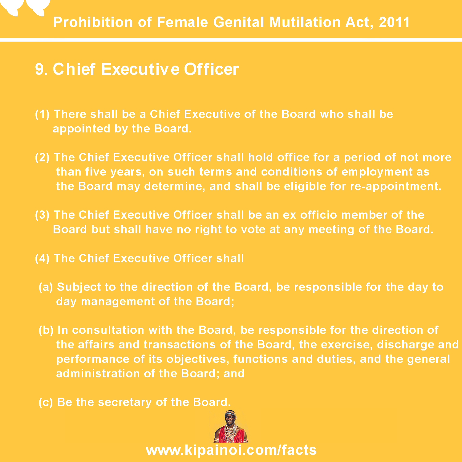 9. Chief Executive Officer